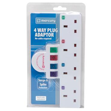 Mercury 429.819 Plug-In 4-Way Main Adaptor