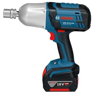 Bosch GDS 18 V-LI HT 18 Volt Professional High Torque Impact Wrench, 2 x 5.0Ah Batteries