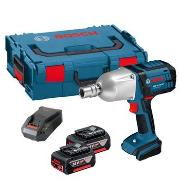 Bosch GDS 18 V-LI HT 18 Volt Professional High Torque Impact Wrench, 2 x 5.0Ah Batteries