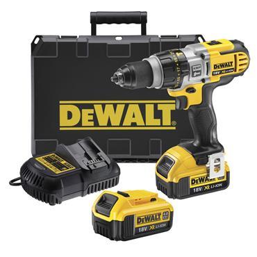 DeWALT DCD985M2 18 Volt 3-Speed Combi Hammer Drill, 2 x 4.0Ah Batteries