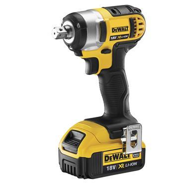 """DeWALT DCF880M2 18 Volt Cordless Compact 1/2"""" Impact Wrench,  2 x 4.0Ah Batteries"""