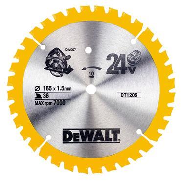 DeWALT 165 x 10 x 36T, Circular Saw Blade - DT1205-QZ