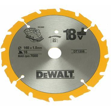 DeWALT 165 x 20 x 16T, Trim Saw Blade - DT1208-QZ