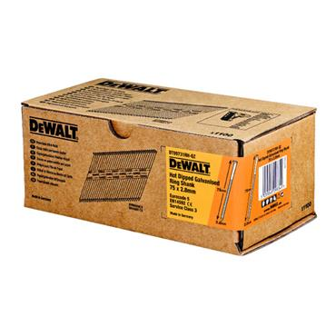 DeWALT 2.8mm Hot Dip Galvanised Ring Shank Nails - 1100 Pack
