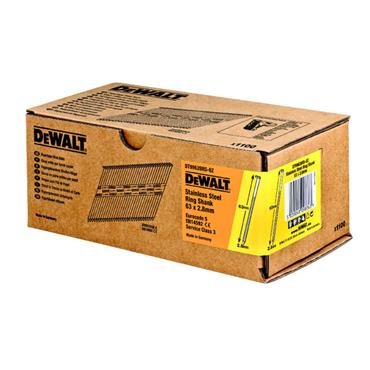 DeWALT DNPT28R63SZ Stainless Steel Ring Shank Nails, 2.8mm