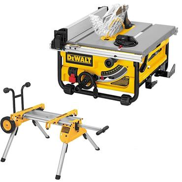 DeWALT DW745 250mm Compact Job Site Table Saw with Site-pro Modular Guarding System