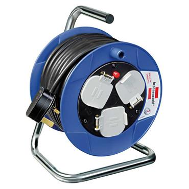 Brennenstuhl 1078183004 240 Volt 15m Compact 3-Way Socket Cable Reel