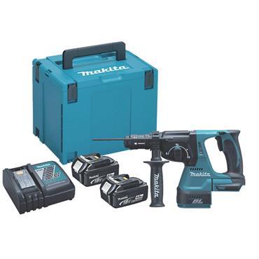 Makita DHR242RMJ 18 Volt Li-Ion Cordless Brushless SDS Plus Drill, 2 x 4.0Ah Batteries