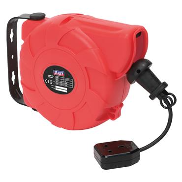 Sealey CRM101 240 Volt 10m Retractable System Cable Reel