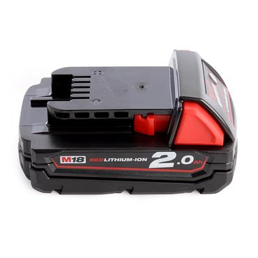 Milwaukee M18B2 18 Volt Red Lithium-Ion Battery Pack, 1 x 2.0Ah Batteries