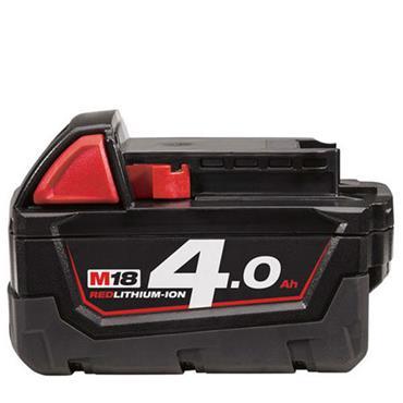Milwaukee M18B4 18 Volt Red Lithium-Ion Battery, 1 x 4.0Ah Batteries