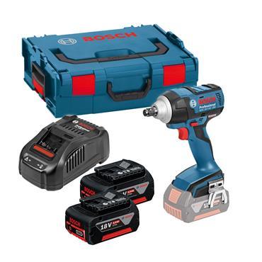 """Bosch GDS18 V-EC 250 18 Volt High Torque 1/2"""" Impact Wrench, 2 x 5.0Ah Batteries"""