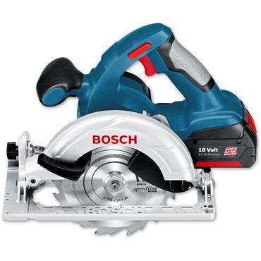 Bosch GKS18V-LI 18 Volt Cordless Circular Saw, 2 x 5.0Ah Batteries