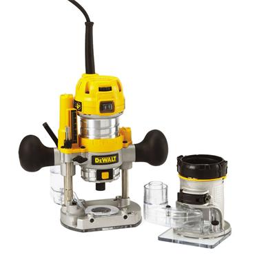 "DeWALT D26204K 900 Watt 1/4"" Combination Plunge and Fixed Base Router"