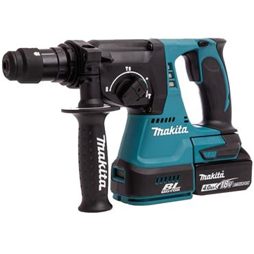 Makita DHR243RMJ SDS-Plus 18 Volt Brushless Rotary Hammer Drill, 2 x 4.0Ah Batteries