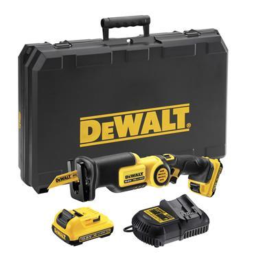 DeWALT DCS310D2 10.8 Volt Compact Reciprocating Saw, 2 x 2.0Ah Batteries
