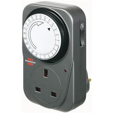 Brennenstuhl 1506453 MZ 20 Plug-In 24 Hour Timer