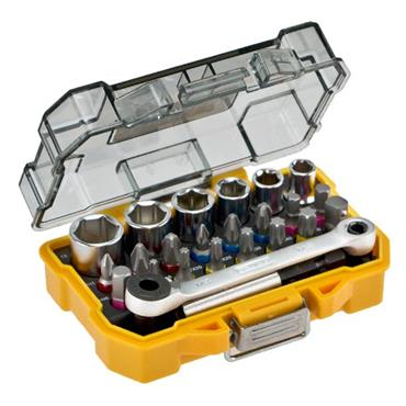 "DeWALT DT71516 24 Piece Metric 1/4"" Drive Socket and Screwdriving Set"