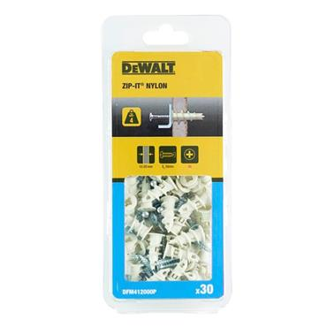 DeWALT DFM4120000 35mm Zip-It Gypsum Board Anchors - 100 Pack