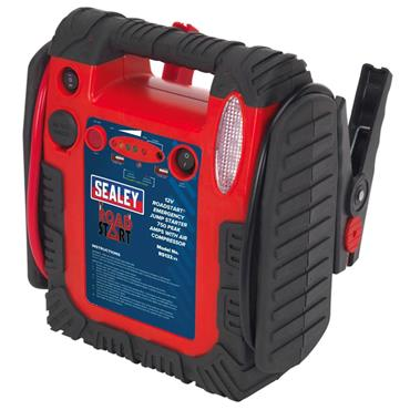 Sealey RS132 12 Volt RoadStart Emergency Jump Starter with Air Compressor