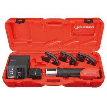 Rothenberger 18126 Romax Compact TT Set with TH16, TH20 and TH26 Press Jaws, 1 x 2.0Ah Batteries