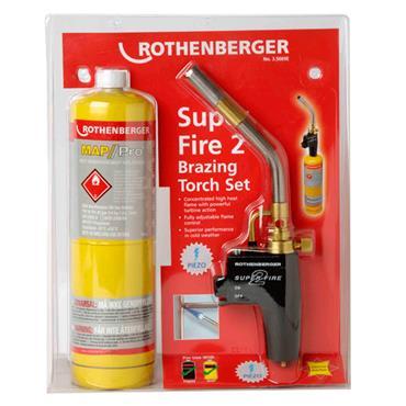 ROTHENBERGER 35669 Super Fire 2 Torch Set c/w Map Pro Cylinder