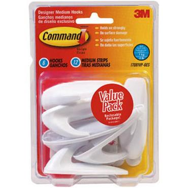 3M Command™ 17081VP Medium Designer Hooks Multi-Pack