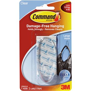 3M Command™ 17093CLR Clear Large Hook