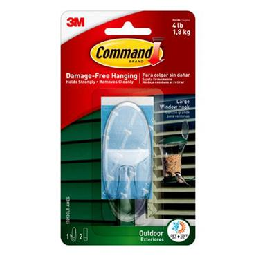 3M Command™ 17093CLR Outdoor Large Window Hook