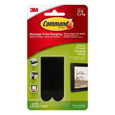 3M Command™ 17201BLK Black Medium Picture Hanging Strips