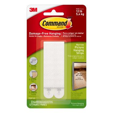 3M Command™ 17207 Narrow Picture Hanging Strips