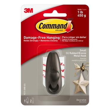 3M Command™ FC11-ORB  Small Forever Classic Oil Rubbed Bronze Metal Hook