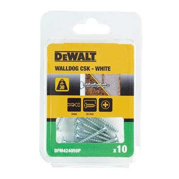 DeWALT DFM424050P 32mm Walldog Screw Anchors Countersunk - 10 Pack