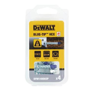 DeWALT DFM1400 Hex Head Blue-Tip Concrete Screwbolts