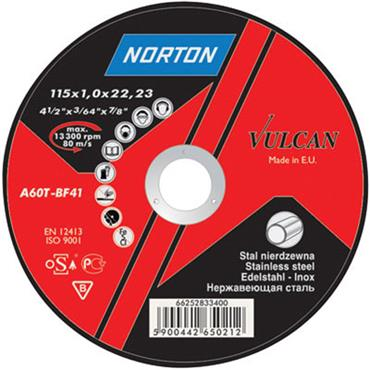 "NORTON 9"" / 230mm 1.9mm Vulcan Stainless Steel Cutting Disc"