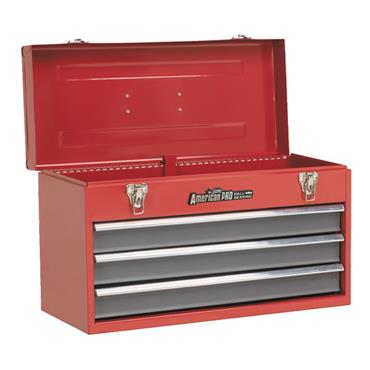 Sealey AP9243BB 3-Drawer Red/Grey Portable Tool Chest