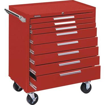KENNEDY 348XR Industrial  Roller Cabinet 8 Drawer Smooth Red