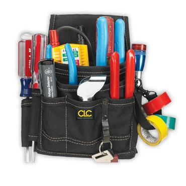 CUSTOM LEATHERCRAFT 1503 9 Pocket Electrical & Maintenance Pouch