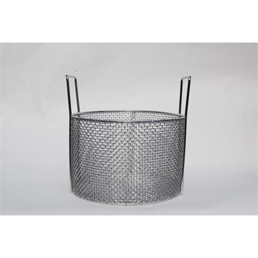 MARLIN STEEL 00-101-31 Circular Mesh Basket w/ Handles- Stainless Steel