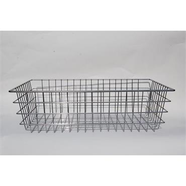 MARLIN STEEL 00-154A-12 Wire Basket, Chrome Plated