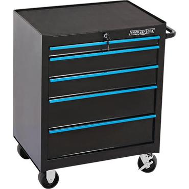 Channellock 303954 5-Drawer Black Tool Roller Cabinet