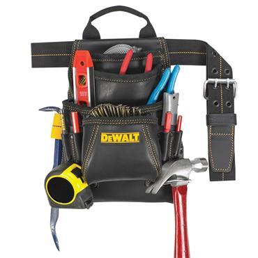 DeWALT DG5433 10 Pocket Carpenter's Grain Leather Nail and Tool Bag