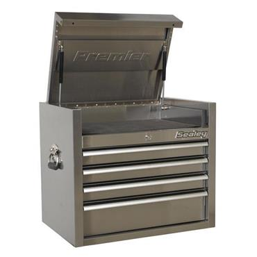Sealey PTB66004SS 4-Drawer Stainless Steel Heavy Duty Roll Cabinet