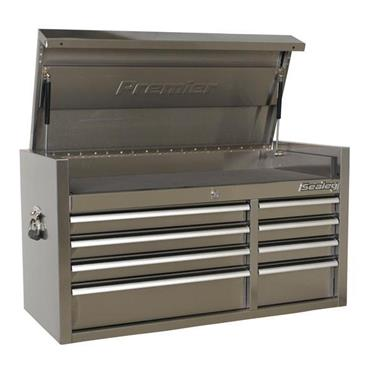 Sealey PTB104008SS 8-Drawer Stainless Steel Heavy Duty Top Chest