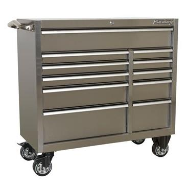 Sealey PTB105511SS 11-Drawer Heavy Duty Stainless Steel Roll Cabinet