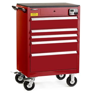 Kennedy 29015EKR 5-Drawer Red eKentrol Cabinet
