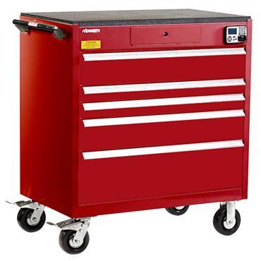 Kennedy 39015EKR 5-Drawer Red Tool Storage Cabinet