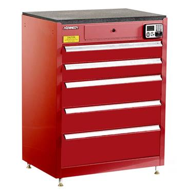Kennedy 29115EKR 5-Drawer Red eKentrol Cabinet