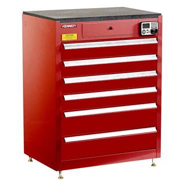 Kennedy 29116EKR 6-Drawer Red eKentrol Cabinet