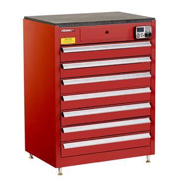 Kennedy 29117EKR 7-Drawer Red eKentrol Cabinet